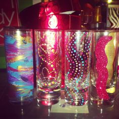Christmas Gift from my best friend! Personalized Shot glasses! Must try. #DIY