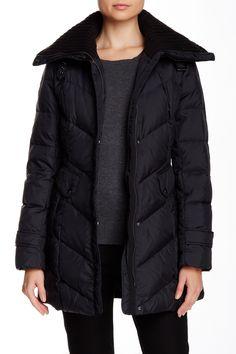 Cole Haan Zip Front Down Coat