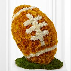 Awesome Football made out of flowers!