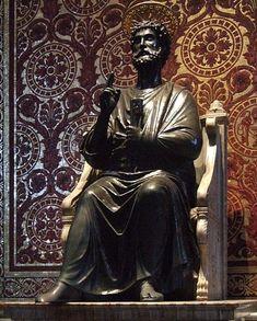 san pedro. imagen que se encuentra en la basilica de san pedro, vaticano