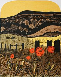 'Poppies and Downs' by Robert Tavener