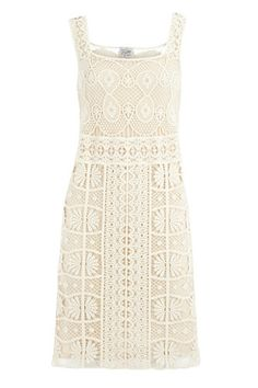 16 Alternative Wedding Dresses You'll Love #refinery29  http://www.refinery29.com/19009#slide14  Oasis Crocheted Lace Dress, $145, available at Oasis.