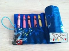 Mom's Busy Crafting- Crayon Roll Tutorial