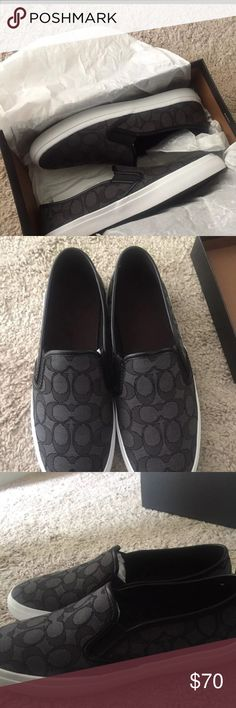 Brand New Coach Slip On Shoes Brand new, women's size 10. Black slip on shoes Coach Shoes Sneakers