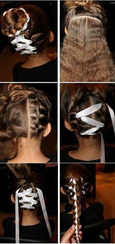 How to Make a Four Strand Ribbon Braid Headband Hairstyle