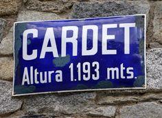 placa esmaltada, Cardet Vall de Boí. foto Inés