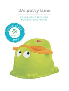 The Fisher-Price Froggy Potty is easy to use and makes potty training fun.