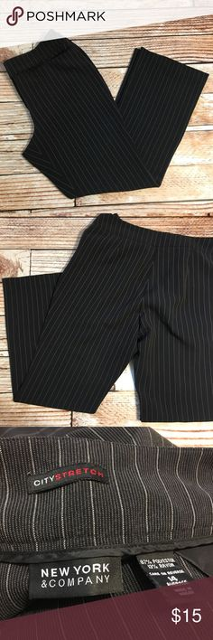"New York & Company size 14 dress pants New York & Company size 14 striped boot cut dress pants   🌵Bundle deals available. I carry various sizes/brands. 🌵No trades, holds, or modeling. 🌵All reasonable offers accepted only through ""offer"" button. No lowball offers please. Please submit final offer willing to pay as I prefer to not counteroffer. 🌵Happy Poshing! New York & Company Pants Boot Cut & Flare"