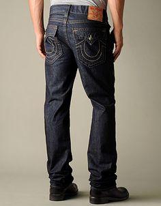 True Religion Brand Jeans, TRUE-6936 Men's Ricky E4 Basic (Long Inseam) - Body Rinse, truereligionbrandjeans.com