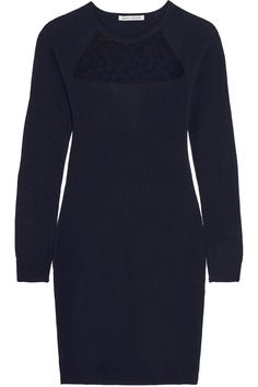 Shop on-sale Autumn Cashmere Corded lace-paneled cashmere mini dress . Browse other discount designer Dresses & more on The Most Fashionable Fashion Outlet, THE OUTNET.COM