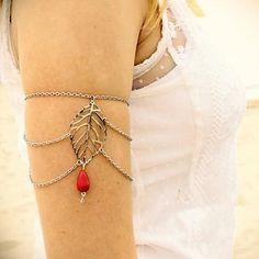Women's Simple Hollow Leaves Tthree-arm Chain – USD $ 4.19