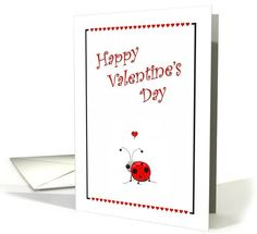 Cute Ladybug Valentine's Day - Hearts | Greeting Card Universe