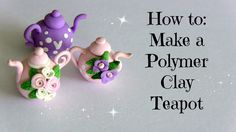 how to: polymer clay teapot Cute Polymer Clay, Polymer Clay Miniatures, Fimo Clay, Polymer Clay Projects, Polymer Clay Charms, Polymer Clay Creations, Polymer Clay Jewelry, Clay Crafts, Barbie Miniatures