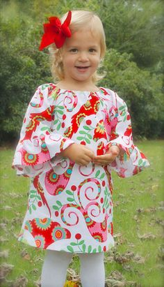 PERFECT for CHRISTMAS girls toddler ruffle sleeve by wrententen, $44.00