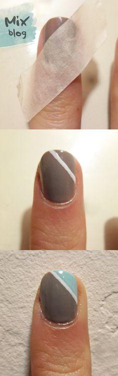 Simple nail art http://recibeloqueda.blogspot.com.ar/2014/04/nail-art-sencillo.html