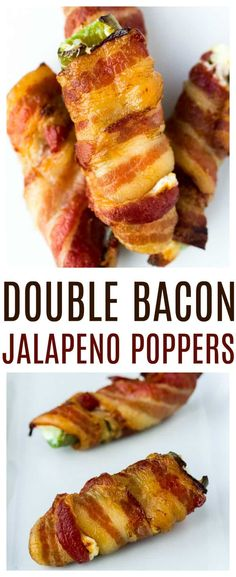 because you can't really have too much bacon, can you? These bacon-wrapped jalapeno poppers are also stuffed with bits of bacon in melted cheese! These are definitely the perfect appetizer recipe for bacon lovers! Jalapeno Popper Recipes, Bacon Wrapped Jalapeno Poppers, Stuffed Jalapenos With Bacon, Bacon Recipes, Stuffed Peppers, Bacon Appetizers, Easy Appetizer Recipes, Appetizers For Party, Party Snacks