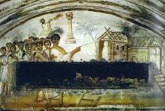 Raising of Lazarus, Wall Painting, Via Latina, Catacomb, Rome. Early Christian, Christian Art, Tempera, Israel History, Church History, Fresco, Rome Catacombs, Raising Of Lazarus, Oldest Bible
