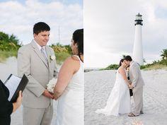 Affordable beach wedding, eloping in Miami. Key Biscayne Wedding near Miami lighthouse. Beach wedding in Miami. Miami Beach wedding. All floral, photography, beach notary by Small Miami Weddings. www.smallmiamiweddings.com