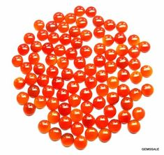 10 Pieces Lot 5mm Carnelian Round Cabochon gemstone
