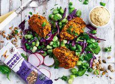 Butternut and Seed Falafel Macro Bowl Squash Seeds, Vegetarian Lunch, Keeping Healthy, Butternut Squash, Chana Masala, Tandoori Chicken, Great Recipes, Healthy Snacks, Ethnic Recipes