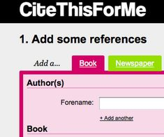 """Cite This For Me"" Tool for #writing and #research - and iPad friendly"