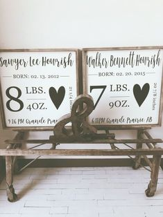 Craft Gifts For Father - Fantastic Present Strategies Custom Birth Stats 24 X 24 - Timber Gray Design Co. Diy Décoration, Diy Crafts, Wood Crafts, Childrens Room, Diy Love, Little Mac, My Bebe, Décor Antique, Baby Shower
