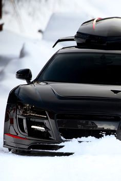 Still battling winter? Nothing beats this Audi R8. Don't forget your 'Outdoor survival' mancrate. Click for more.