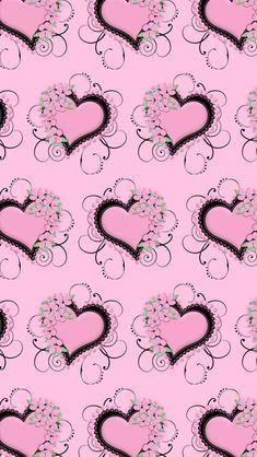 By Artist Unknown. Hello Kitty Wallpaper, Heart Wallpaper, Cute Wallpaper Backgrounds, Love Wallpaper, Cellphone Wallpaper, Pretty Wallpapers, Colorful Wallpaper, Iphone Wallpaper, Heart Background