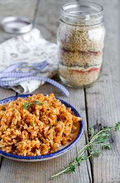 Cajun Dirty Rice Mix in a Jar. Homemade Holiday Gift Ideas for Vegetarians. | Veggie Belly | Vegetarian Recipe
