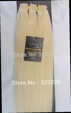 """42.75$  Watch now - http://alic2u.worldwells.pw/go.php?t=853988244 - """"Wholesale Women Remy Human Hair Extensions Weft Weaving Straight 18""""""""-36"""""""" 100g Light Blonde #613"""" 42.75$"""