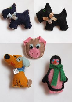 Felt Scottie brooches.