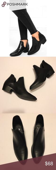 Classic Steve Madden Leather Austin Booties. NEW in box • Staple black  leather