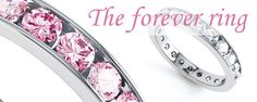 In the world of jewellery the Eternity Ring is a symbol of everlasting love. The concept of infinite love through a solid ring of precious metal arose more than 2000 years ago in ancient Egypt. #Shopping #Jewellery