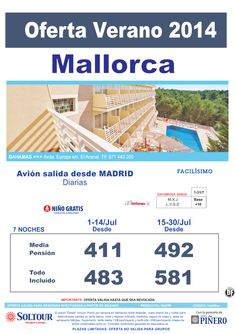 Mallorca: Oferta Hotel Bahamas salidas desde Madrid ultimo minuto - http://zocotours.com/mallorca-oferta-hotel-bahamas-salidas-desde-madrid-ultimo-minuto/