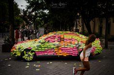 Putadas a los novios #postit #coche #broma #bodas #madrid