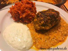 Griechisches Gericht Bifteki in der Ofenhexe oder Ofenmeister von Pampered Chef aus dem Onlineshop