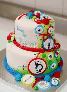 Colorful birthday cake pictures for your Science Nerd Boy/Girl