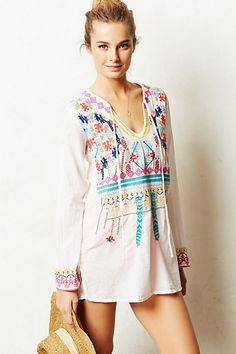Embroidered Utara Cover-Up #anthropologie