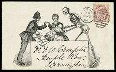Ephemera. Envelope with propaganda for vaccination in  seems to have travelled1884