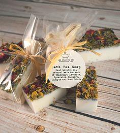 Bath Tea Soap Favors, Set of 24 | These mini soaps make pretty favors or charming guest bathroom... | Wedding Favors