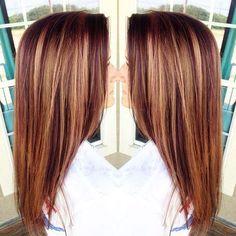 Red Hair with Auburn Highlights Auburn Hair Color Ideas