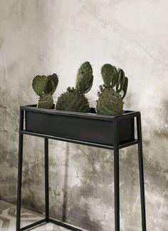 Plantenbak op standaard zwart L