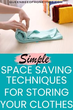 The more efficiently you store your clothes the more room you will have. These are some of my tricks to make lots of clothes fit into small spaces. #storage #closets #techniques #housekeeping #drawers