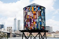 Water Tower in Brooklyn by Tom Fruin