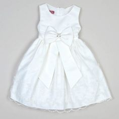 Toddler Sleeveless Beaded Dress with Bow