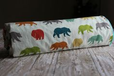 Organic Baby Blanket  Bear Hike in Multicolor by by Saravadesigns, $45.00