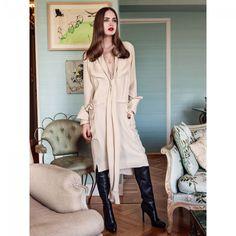 Robe à Lavallière n°116 de Burda Style Octobre 2014