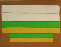 Retalhos de tecido para cesta de páscoa