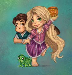 Rapunzel chibi by ~marysiams on deviantART