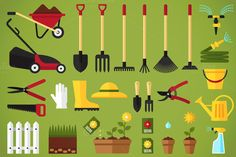 Vector garden equipment @creativework247